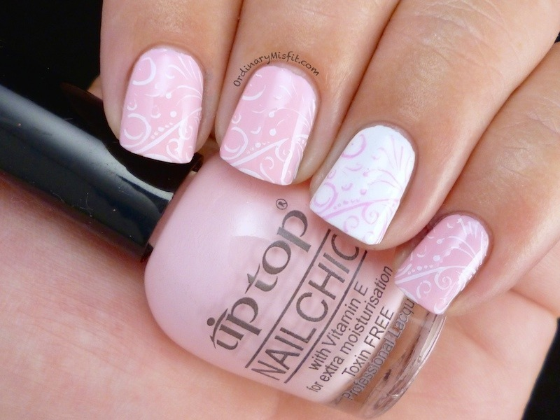 Delicate pink and white nail art by michelle nailpolis museum delicate pink and white nail art by michelle prinsesfo Gallery