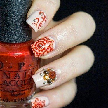 Mandala flowers nail art 2 thumb370f