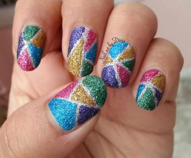 Feeling Frosty nail art by Divya Pandey