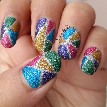 Feeling Frosty nail art by Divya Pandey