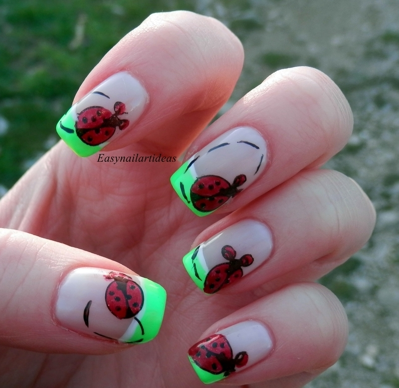 Ladybug - Welcome spring nail art  nail art by Easynailartideas