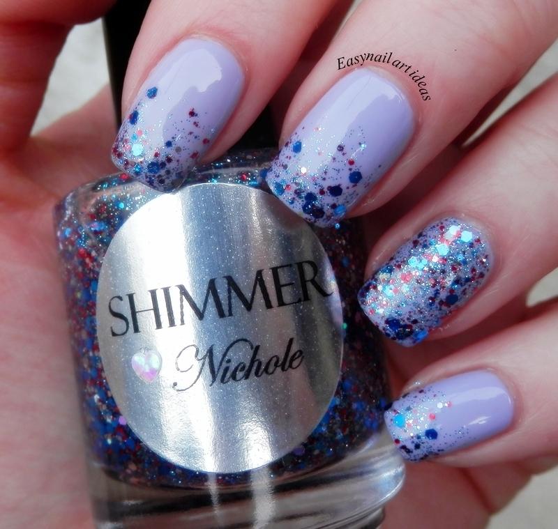 Glitter gradient  nail art by Easynailartideas