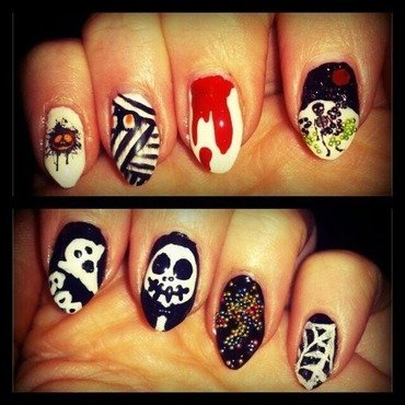 Halloween  nail art by Zane