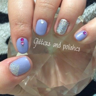 Spring sparkle  nail art by Glitters and polishes