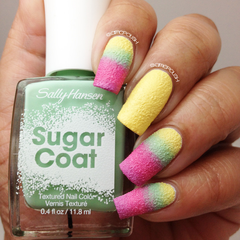 Textured Gradient nail art by Amber Connor
