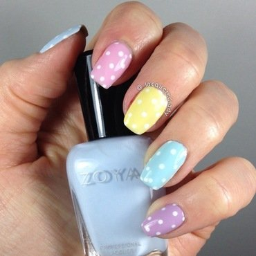 Spring Pastel Skittles Dotticure nail art by LacqueredLady