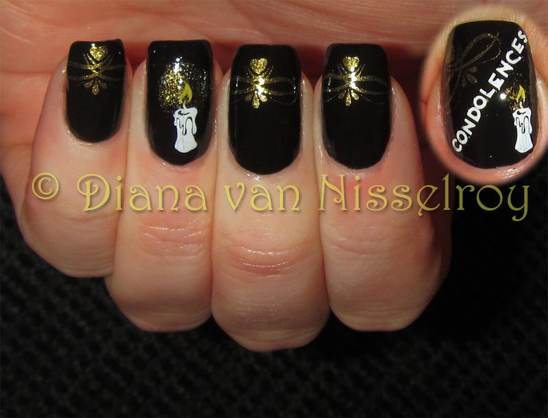 Condolences nail art by Diana van Nisselroy