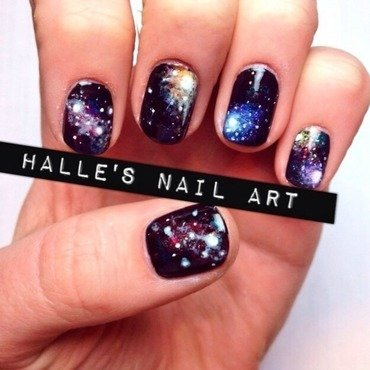 I need some space nail art by Halle Butler