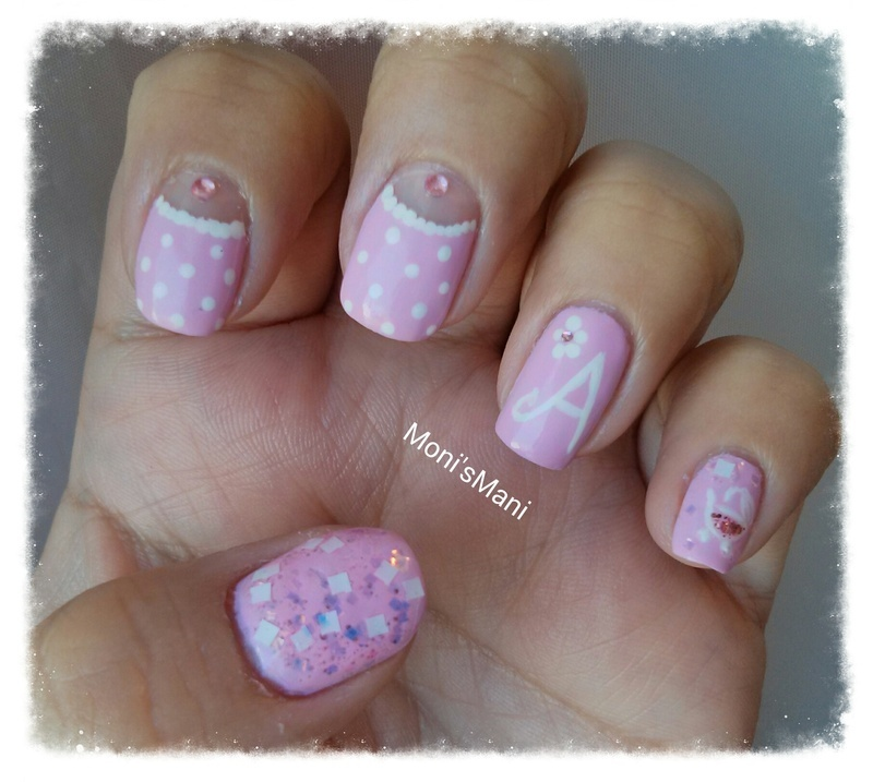 Sweet baby girl mani nail art by monismani nailpolis museum of sweet baby girl mani nail art by monismani prinsesfo Images