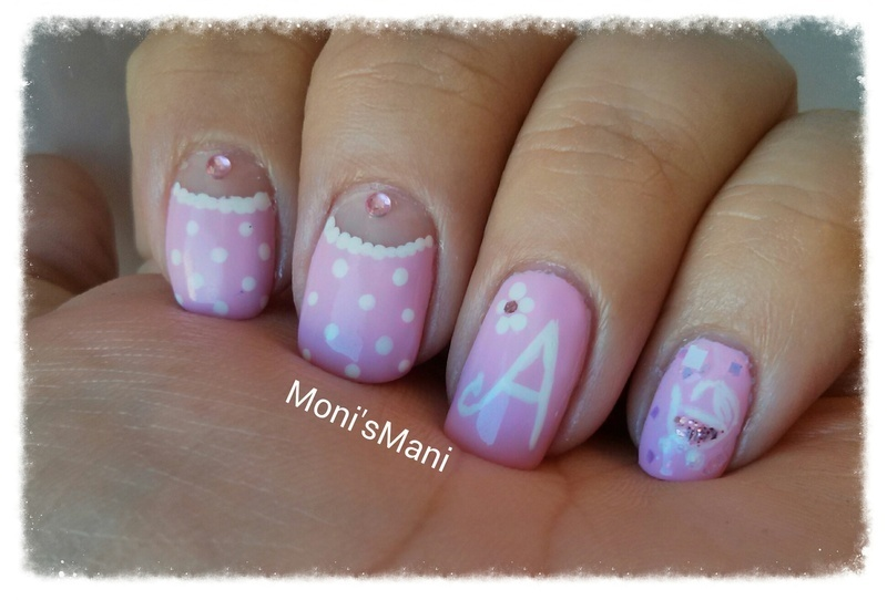 Detail of sweet baby girl mani nail art by monismani nailpolis detail of sweet baby girl mani nail art by monismani prinsesfo Gallery