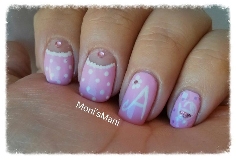 Detail Of Sweet Baby Girl Mani Nail Art By Monismani Nailpolis