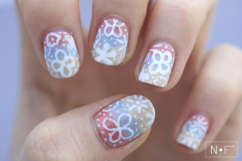 Doodle flowers nail art by NerdyFleurty