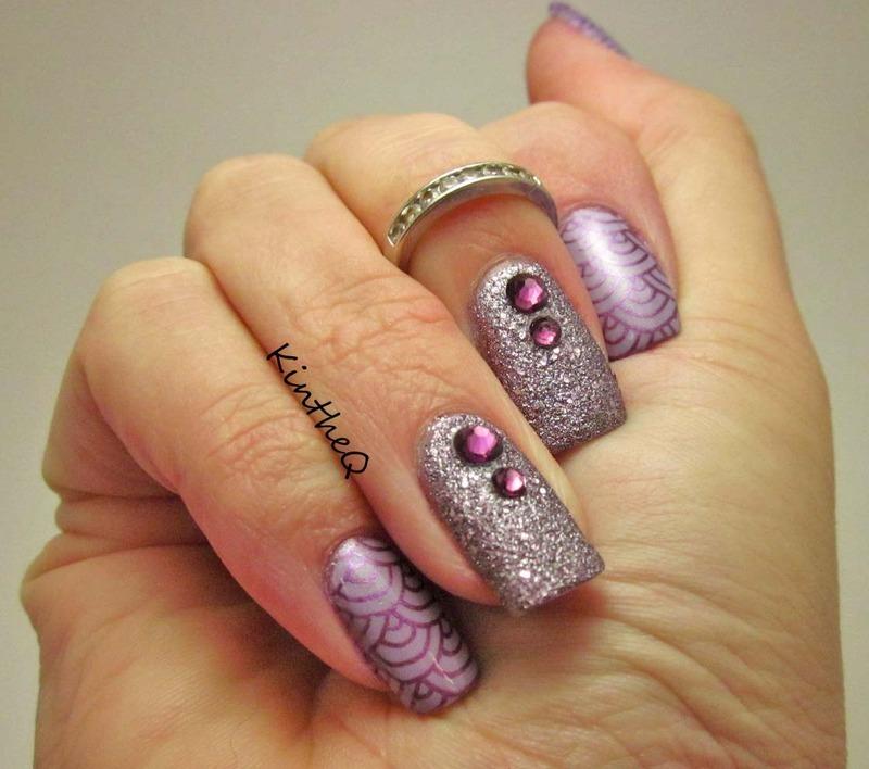 Purple Passion nail art by Karolyn