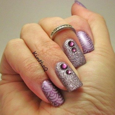Purple Passion nail art by Karolyn