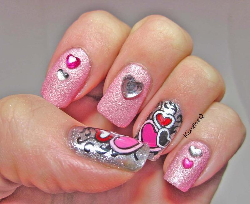 Happy Valentine's Day nail art by Karolyn