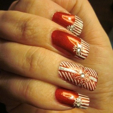 Tied With A Bow nail art by Karolyn