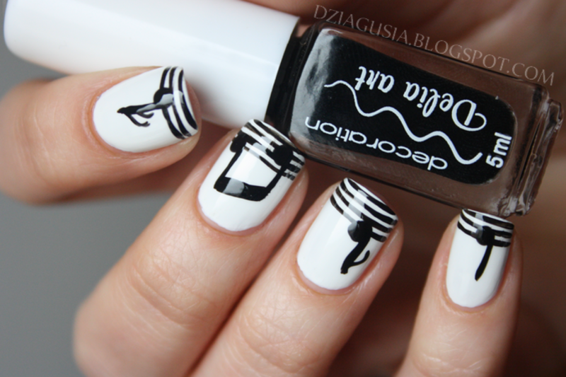 Music is everywhere! nail art by Magda