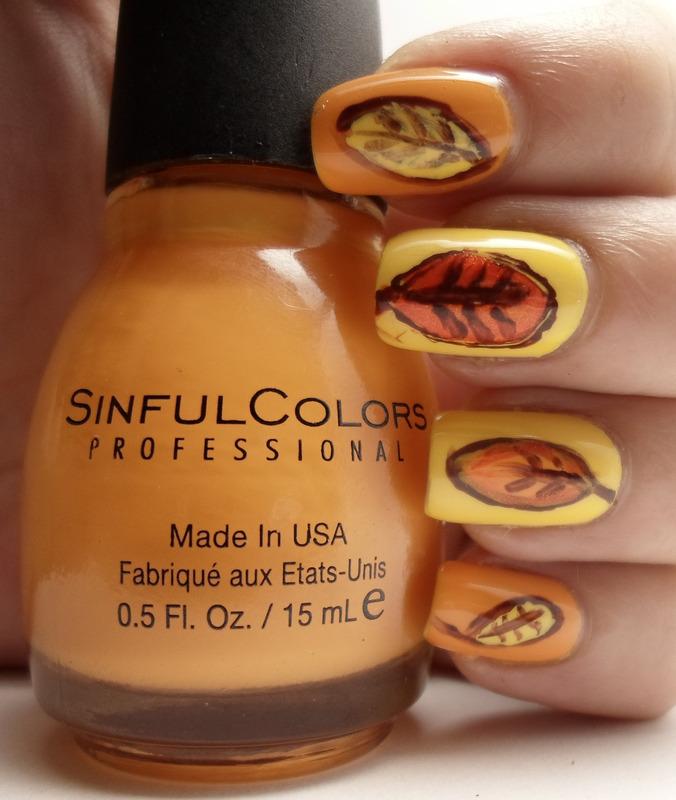 Fall Nail Art nail art by Emma N.