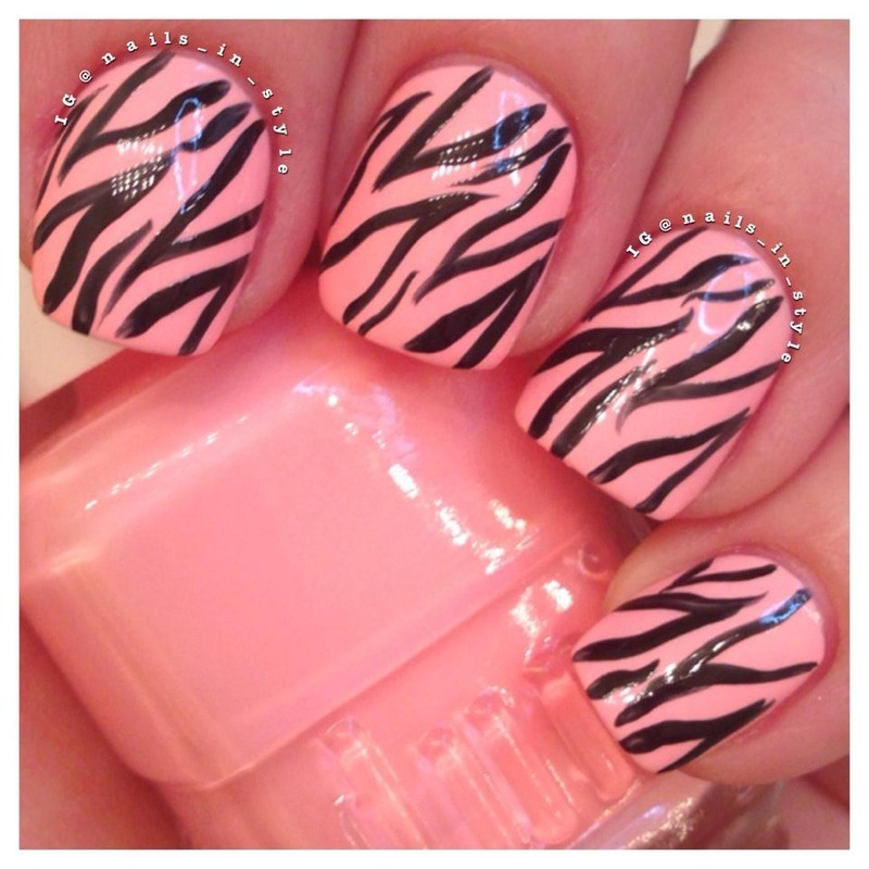 Zebra, Call Me Maybe? nail art by Nails_In_Style