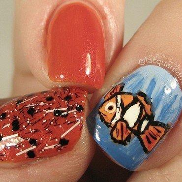 Finding Nemo nail art by Jennifer Collins