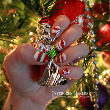 Xmas nails by psychorenmakeup thumb370f