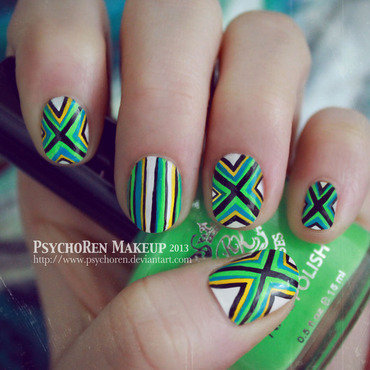 Poncho pattern nails by psychorenmakeup thumb370f