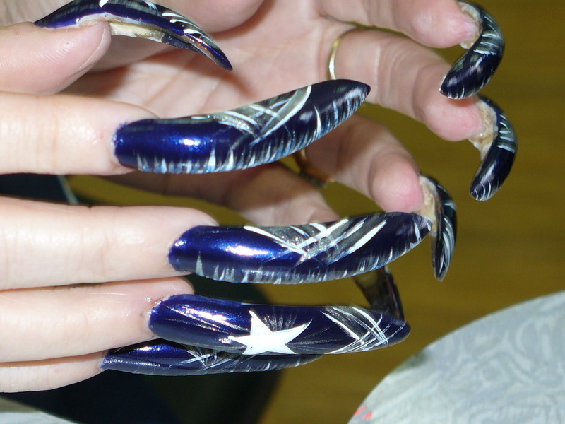 Dallas Cowboys Nail Art Nail Art By Tygerr Recchia Nailpolis
