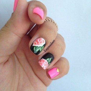 Spring's roses nail art by Fay Nail Art