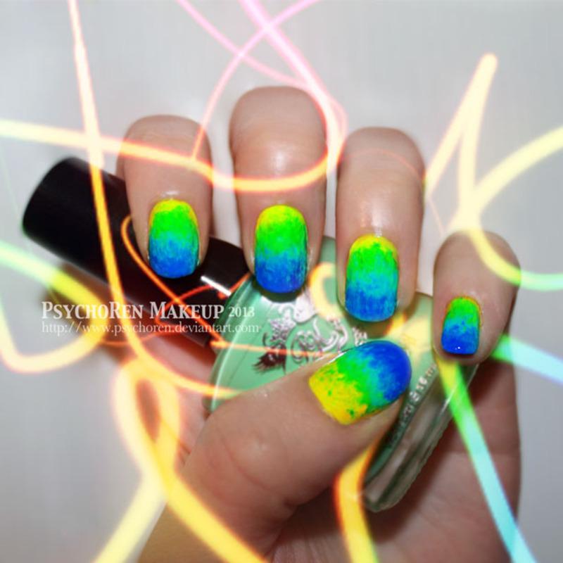 Neon Toxicity  nail art by Renata Ralbovsky