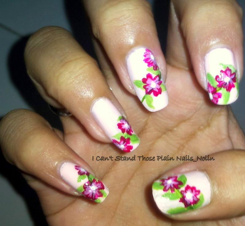 Spring Flowers  nail art by Arnolin Modokh