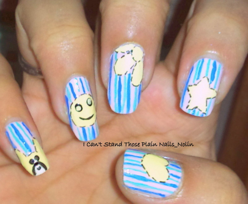 Fun Nails! :D  nail art by Arnolin Modokh