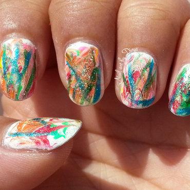 Happy Holi nail art by Divya Pandey