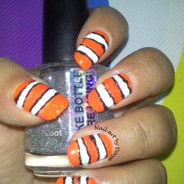 Nemo Nails nail art by Divya Pandey