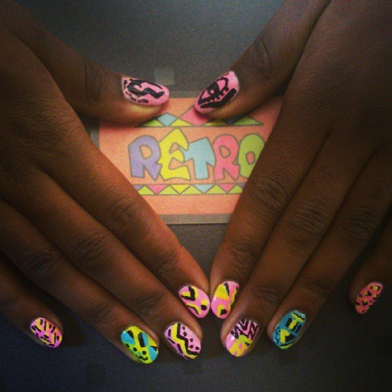 Freestyle nails - invent as you go along nail art by Retro Nails ...