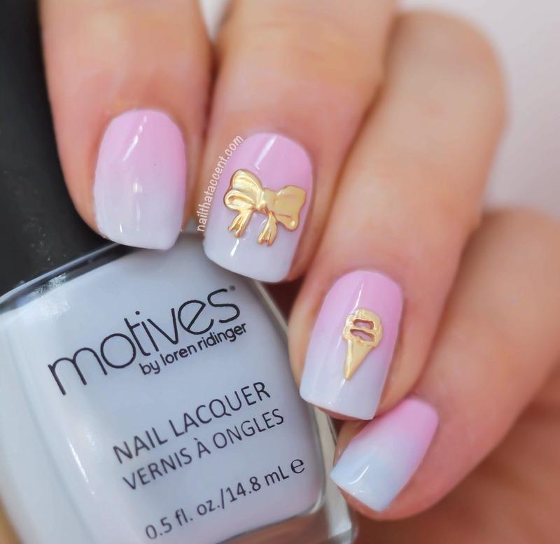 Springtime ombré  nail art by Lindsay