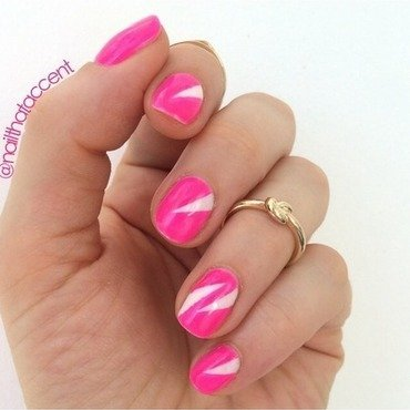 Neon triangles  nail art by Lindsay