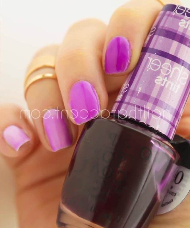 Sheer tints gradient nail art by Lindsay