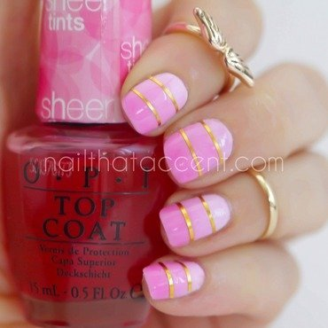 Pink, pink and more pink nail art by Lindsay