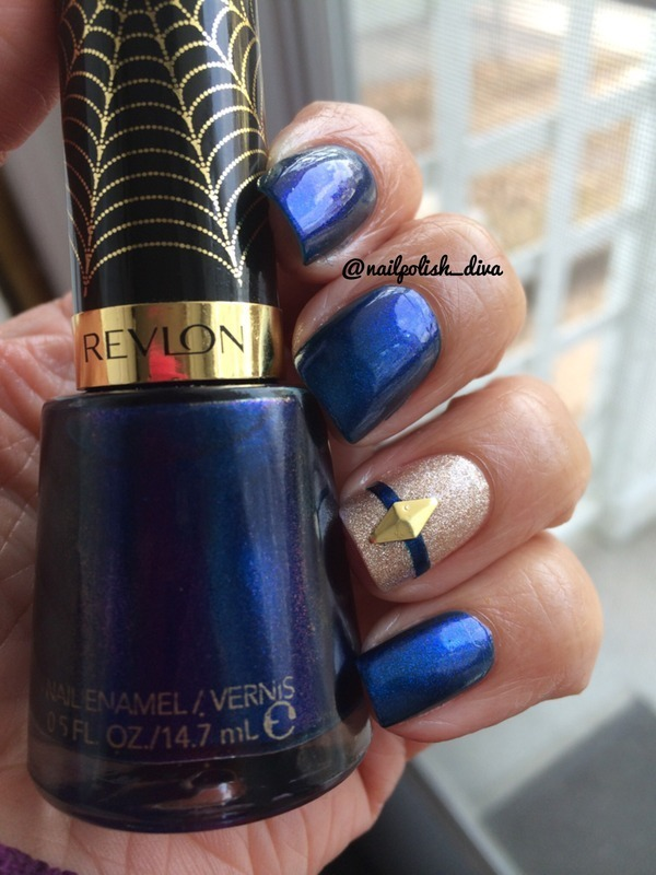 Super-Powered Blue nail art by Marilyn