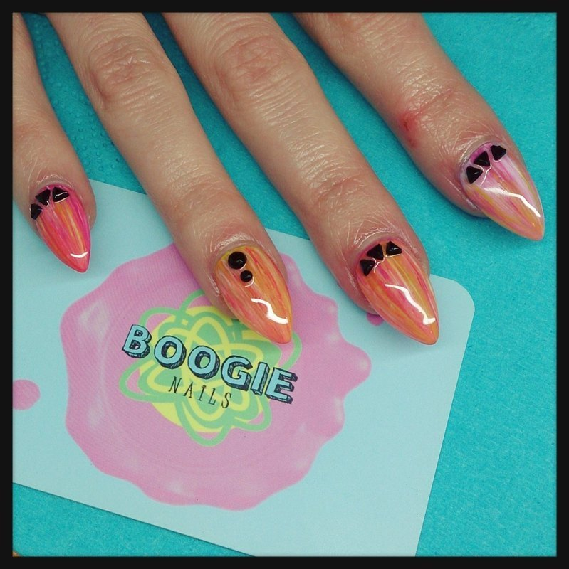 Eye of Tiger nail art by BoogieNails
