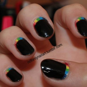 Rainbow ruffian manicure nail art by notonlynailart