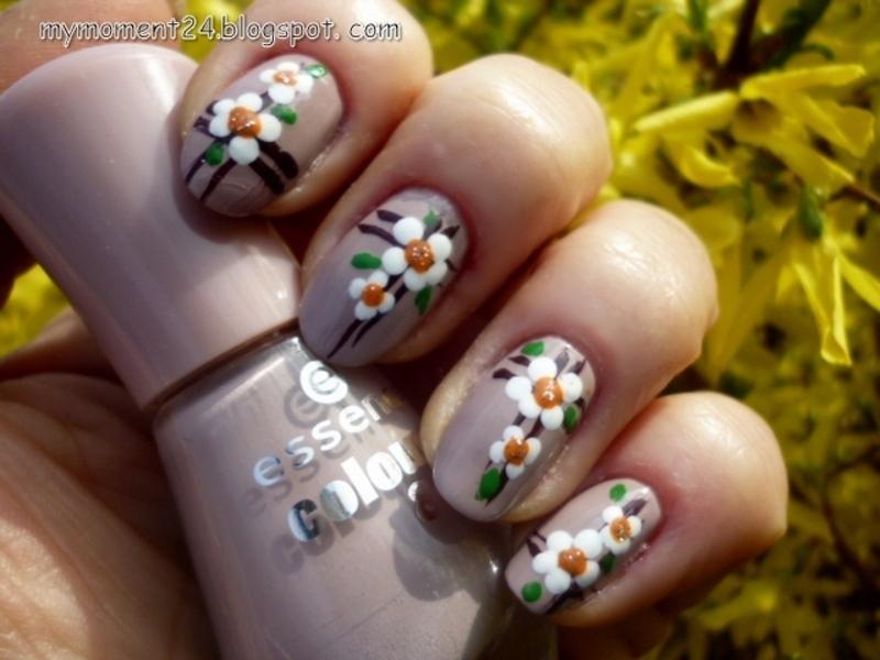 Spring nail art by T. Andi