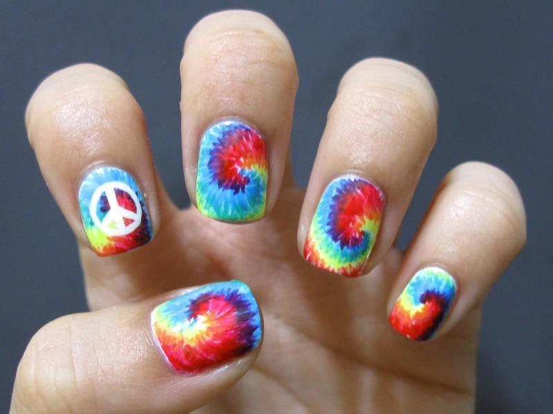 Tie-Dye nail art by Kasey Campa