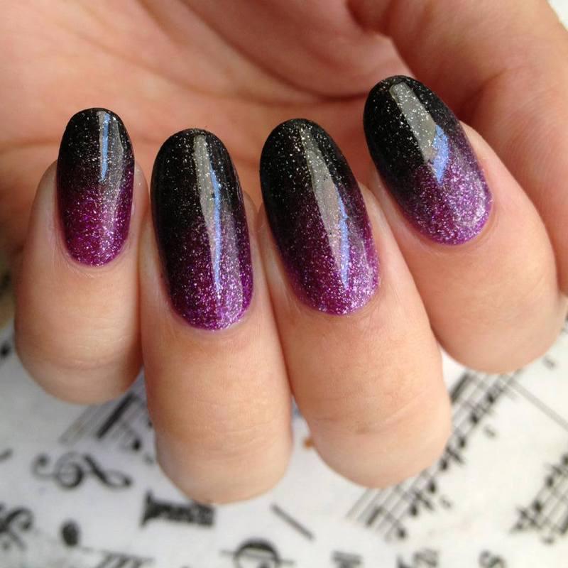 Zoya Gradient nail art by Kasey Campa