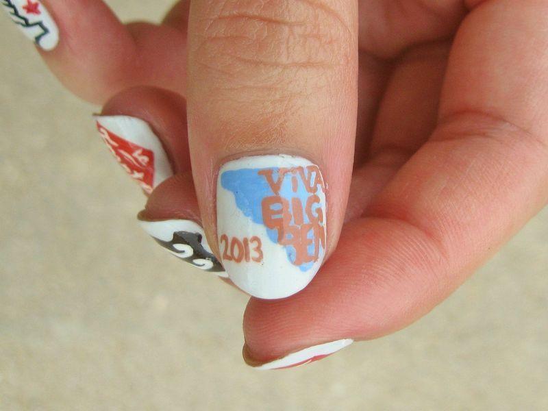 Viva Big Bend Logo nail art by Kasey Campa