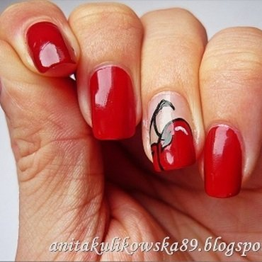 Cherry Nails nail art by Anita
