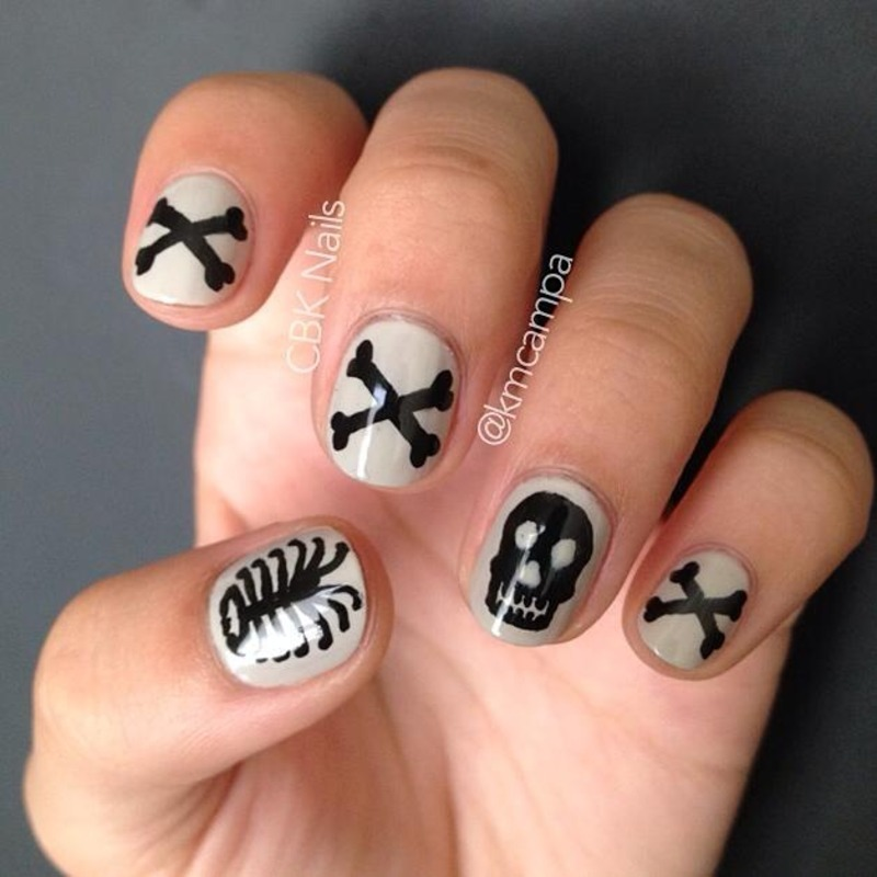 Bones, Bones, Bones! nail art by Kasey Campa
