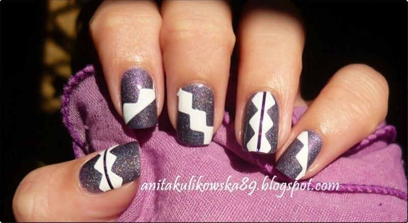 ZigZag Nails nail art by Anita