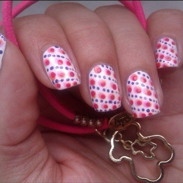 Polka dots  nail art by Anita