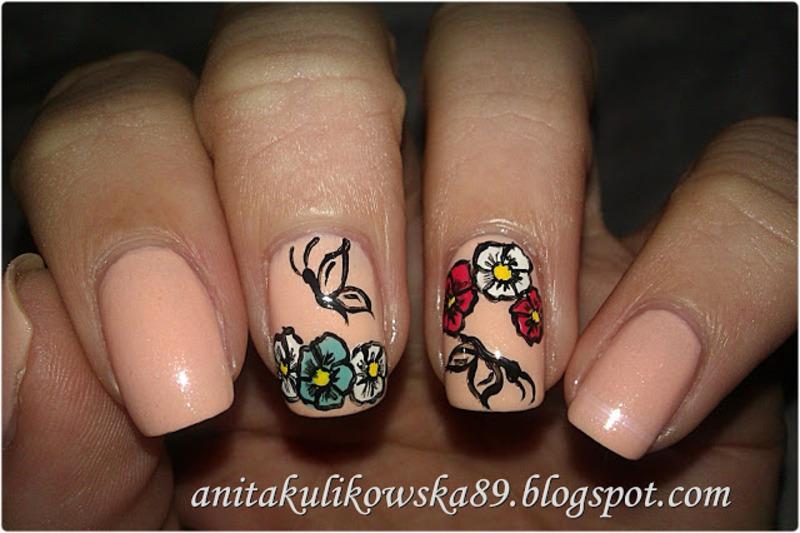 Spring nails nail art by Anita